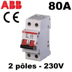 Interrupteur géneral 80A 2NO 230V 2 mod.