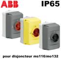 Boitier étanche IP65 cadenassable pour disjoncteur moteur ms116-ms/mo132 ABB