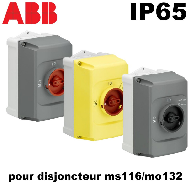 Boitier étanche IP65 cadenassable pour disjoncteur moteur ms116/mo132 ABB