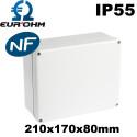 Boite de dérivation étanche IP55 960°C face lisse Eurohm Eur'Ohm