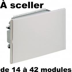 Tableau électrique à sceller (encastré sur mur en maçonnerie)
