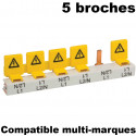 Lot de 5 embouts isolants cache dents de peigne GE General Electric