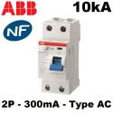 Interrupteur différentiel 100A 300mA 2P Type AC ABB