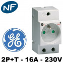 Prise modulaire 2P+T 16A 230V General Electric