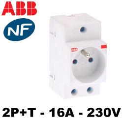 Prise modulaire 2P+T 16A 230V ABB