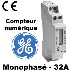 Compteur d'énergie monophasé 32A - General Electric General Electric