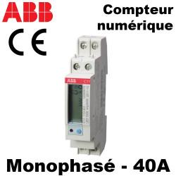 Compteur d'énergie monophasé 40A - ABB ABB