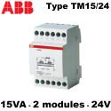 Transformateur de sonnerie type TM15/24 230V - 15VA ABB