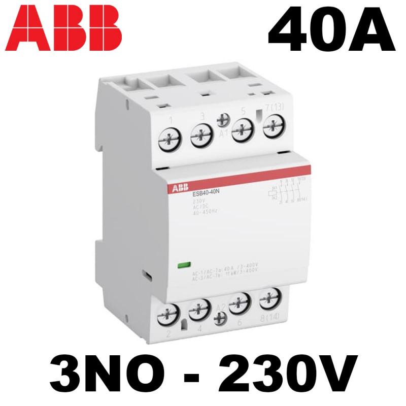 Contacteur de puissance triphasé 40A 3NO ABB
