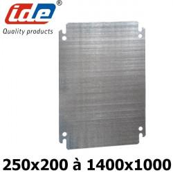 Plaque de montage en acier galvanisé