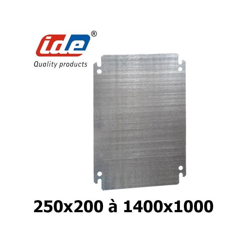 Plaque de montage en acier galvanisé pour coffret ARGENTA IDE