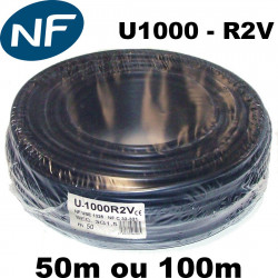 Cable U1000 R2V (section 1,5 ou 2,5mm²)