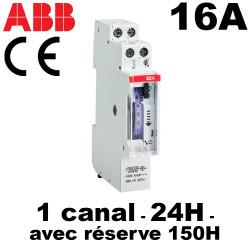 Horloge journalière avec réserve de marche 150h avec mode Marche/Arrêt/Auto ABB