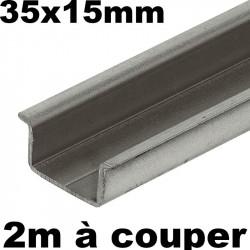 Barre de rail DIN de 2 mètres 35x15mm symétrique