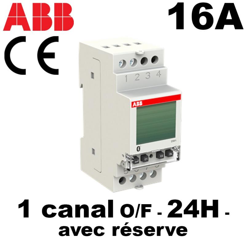Horloge numérique 24h facile à programmer AVEC réserve de marche ABB