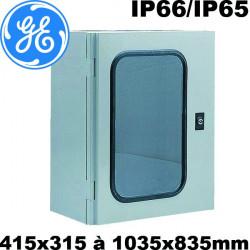 Coffret polyester avec porte fenêtre transparente vitrée ARIA General Electric