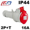 Fiche femelle 2P+T 16A IP44 Code horaire 9