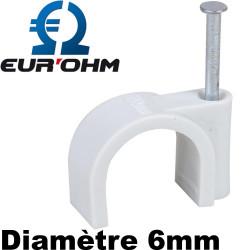 Pontet cavalier pour câble 6mm