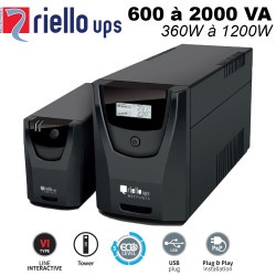 Onduleur line interactive 600/2000VA - 360/1200W - Net power