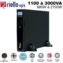 Onduleur tower & rack 1100/3000VA - line interactive - Vision Dual