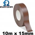 Rouleau de ruban isolant marron 10m x 15mm