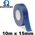 Rouleau de scotch électrique bleu 10m x 15mm