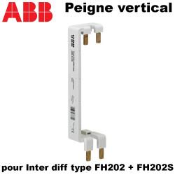 Peigne vertical pour interrupteur différentiel type FH202 + FH202S