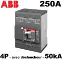 Disjoncteur tétrapolaire 250A 4P4D 50kA de type boitier moulé