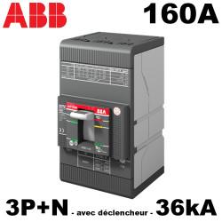 Disjoncteur de puissance 160A TMD 3P+N 36kA avec déclencheur ABB