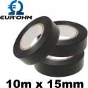 Ruban isolant pour électricien 10m x 15mm Eur'Ohm
