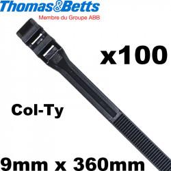 Collier de serrage Rilsan en plastique noir Col-Ty Thomas & Betts