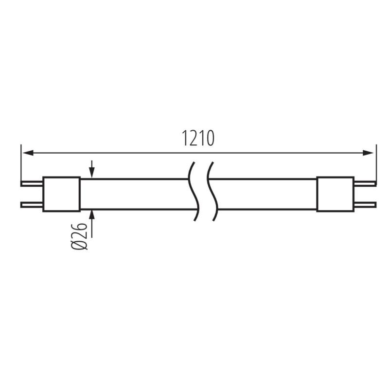 Tube fluorescent T8 18W à 58W 1210mm à 1500mm - 15000H Kanlux Kanlux