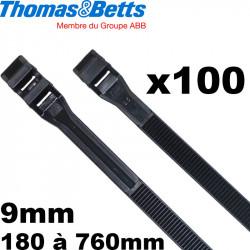 Collier de serrage Rilsan en plastique noir modèle Col-Ty de chez Thomas & Betts (qualité Colson)