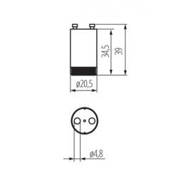 Starter pour tube fluorescent 4-65W Kanlux