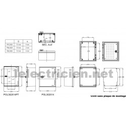 Coffret polyester IP66 IDE IDE