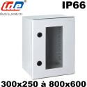 Coffret polyester avec porte transparente IDE étanche IP66 IDE