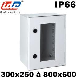 Coffret polyester avec porte transparente IDE étanche IP66
