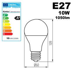 Ampoule LED E27 10W 1050lm 4000K 15,000h Kanlux