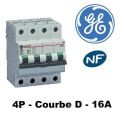 Disjoncteur tétrapolaire Courbe D 6KA GE General Electric