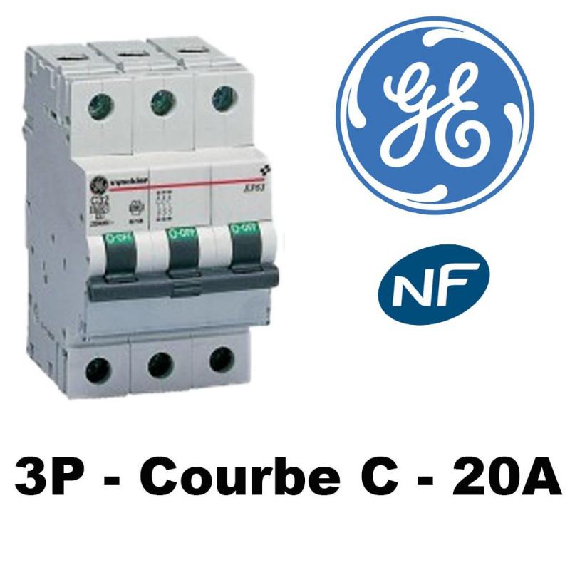 Disjoncteur triphasé 6kA Courbe C GE General Electric