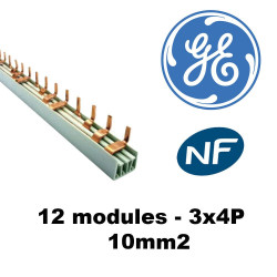 Peigne tétrapolaire 12 modules 3 x 4P - 10mm² GE General Electric