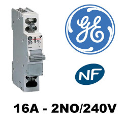Interrupteur modulaire ASTER 16A 2NO 240V~ 1 mod. General Electric