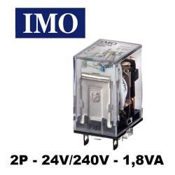 Relais embrochable avec LED 2P 24V/240V 1,8VA