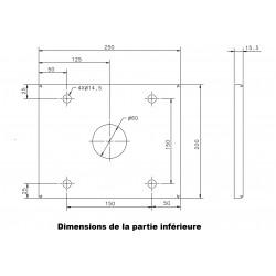 Poteau de support pour armoire ou coffret électrique IDE
