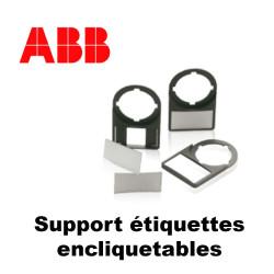 Support Étiquettes encliquetables pour boutonnerie ABB ABB