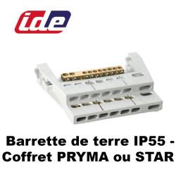 Barrette de terre IP55 pour coffret PRYMA ou STAR IDE