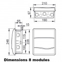 Tableau électrique encastré IP40 IDE Oro IDE