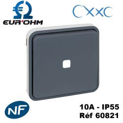 Interrupteur Va et Vient lumineux composable gris OXXO IP55 Eur'Ohm