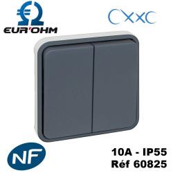 Double bouton poussoir 10A IP55 composable OXXO Eurohm