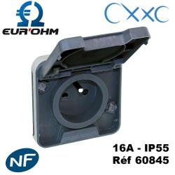 Prise 2P+T IP55 GRIS OXXO EUROHM